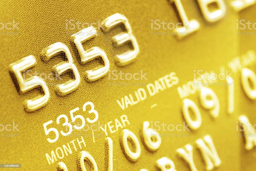 Credit Card Closeup stock photo