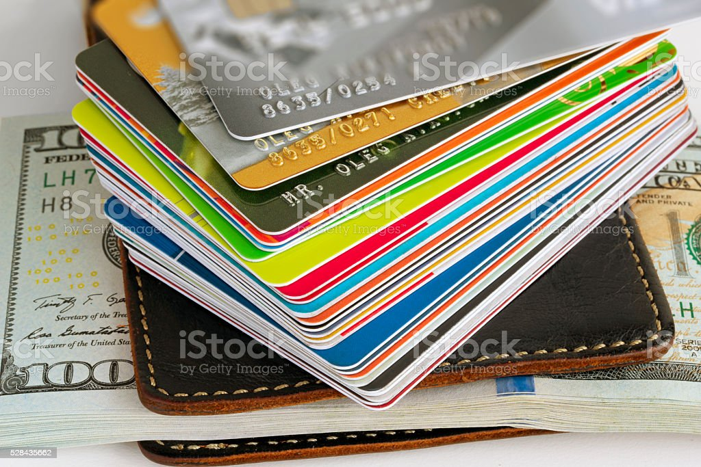 credit card closeup stock photo