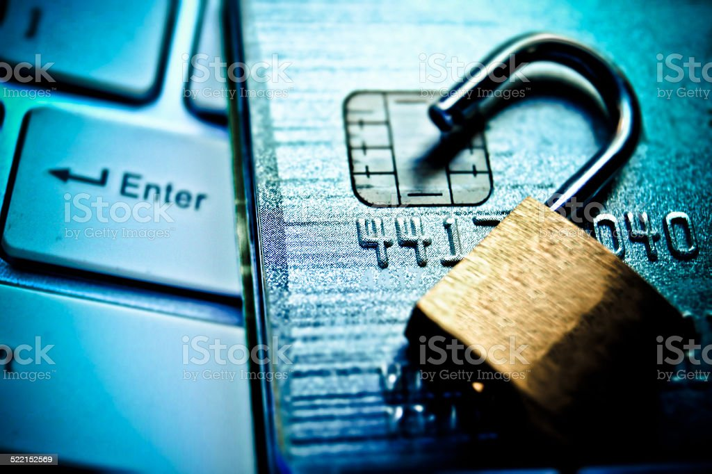 credit card data security stock photo