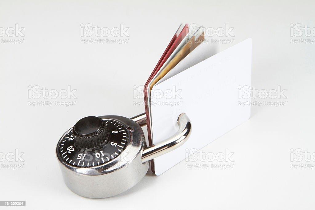 Credit card debt royalty-free stock photo