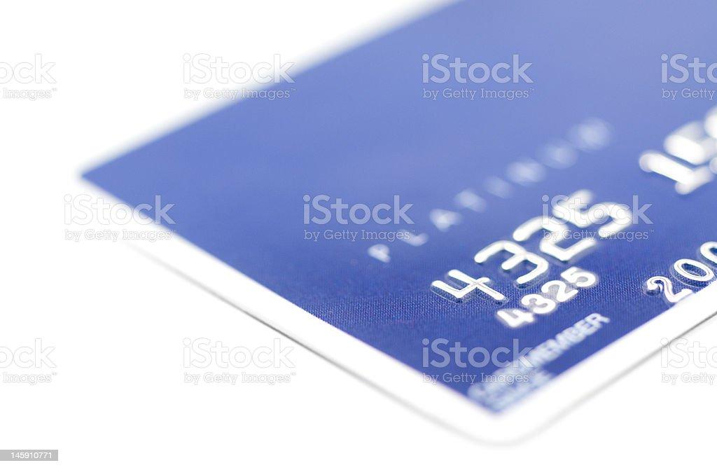 Détail de la carte de crédit photo libre de droits