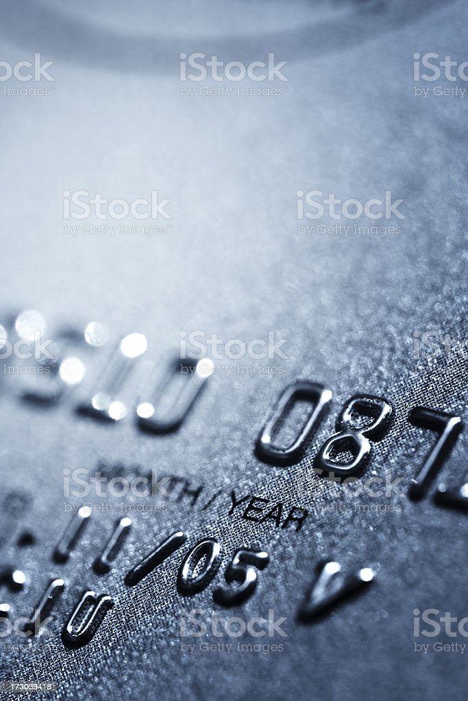 Credit card detail royalty-free stock photo