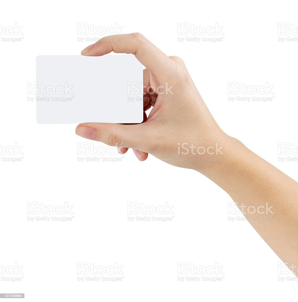 Credit card female hand holding royalty-free stock photo