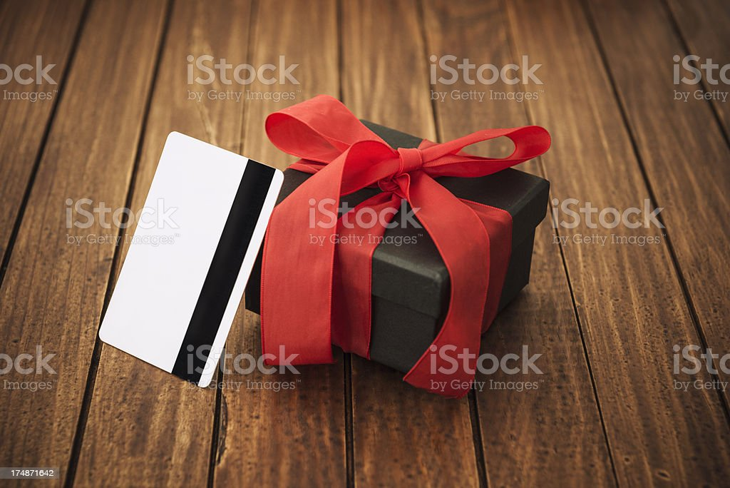 Credit card Gift for St. valentine royalty-free stock photo