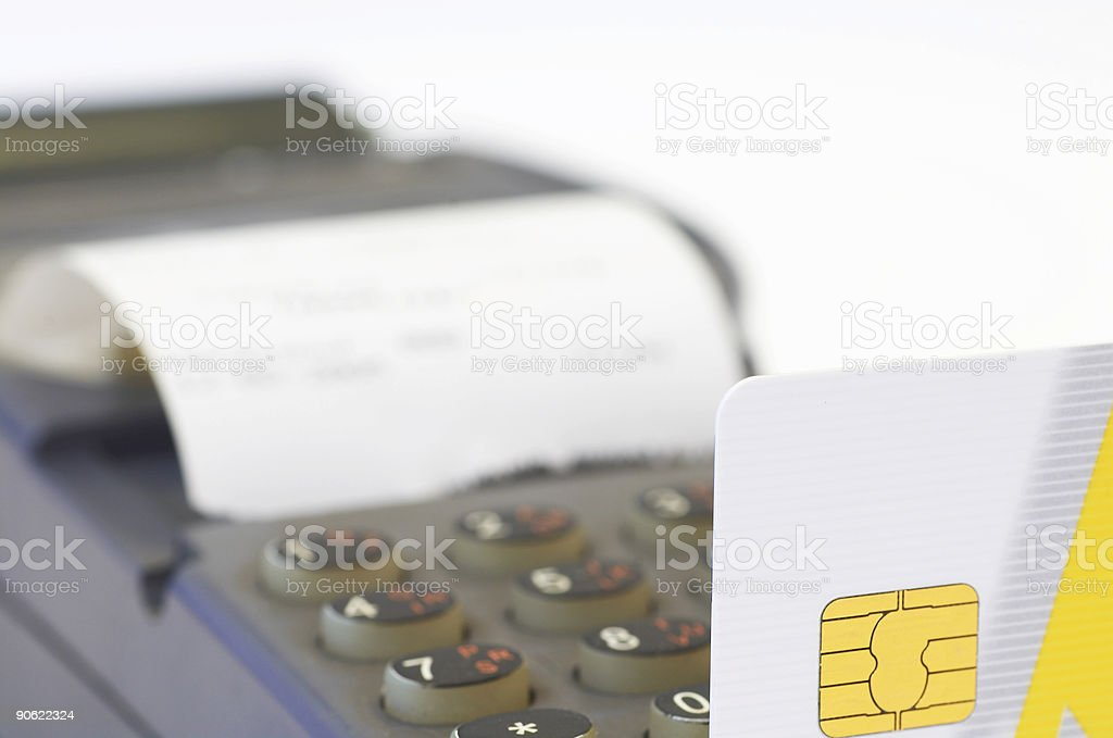 credit card in remote swiper royalty-free stock photo