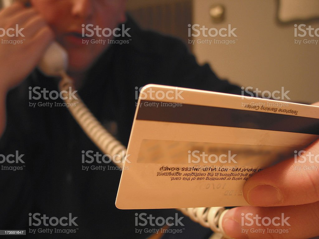 Credit Card - In Use stock photo