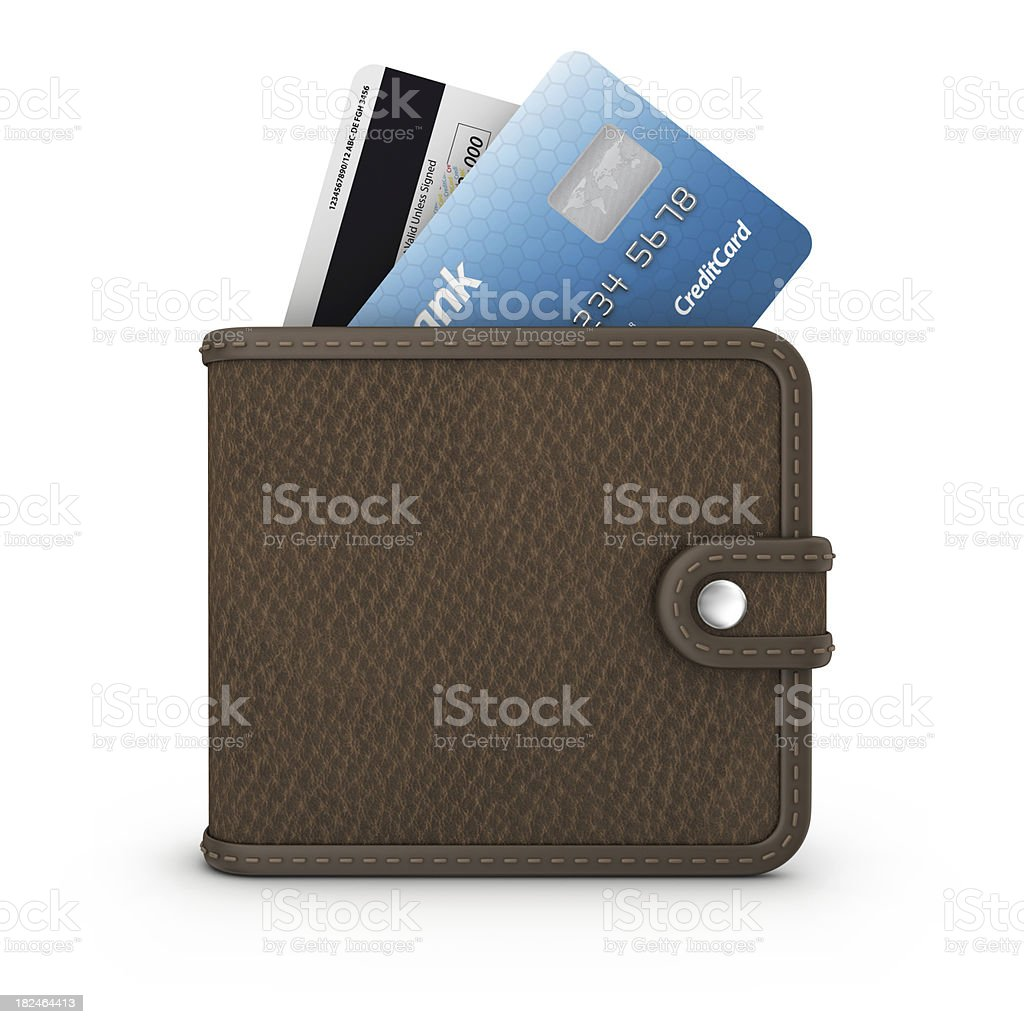 credit card in wallet stock photo