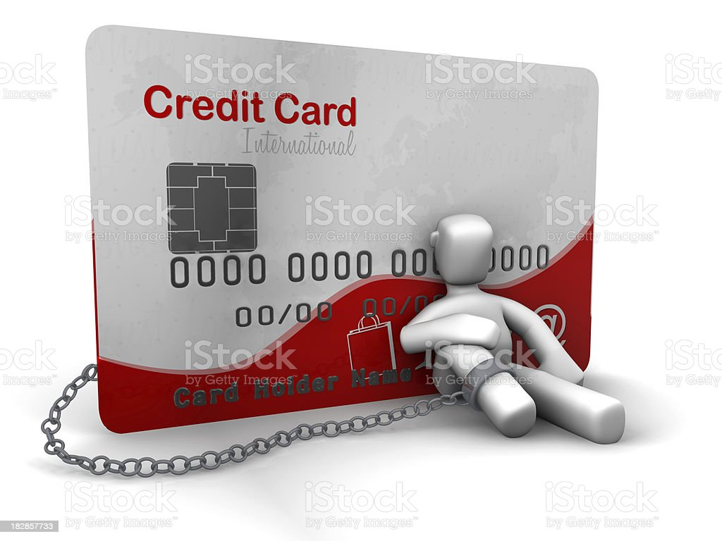 Credit Card isolated royalty-free stock photo