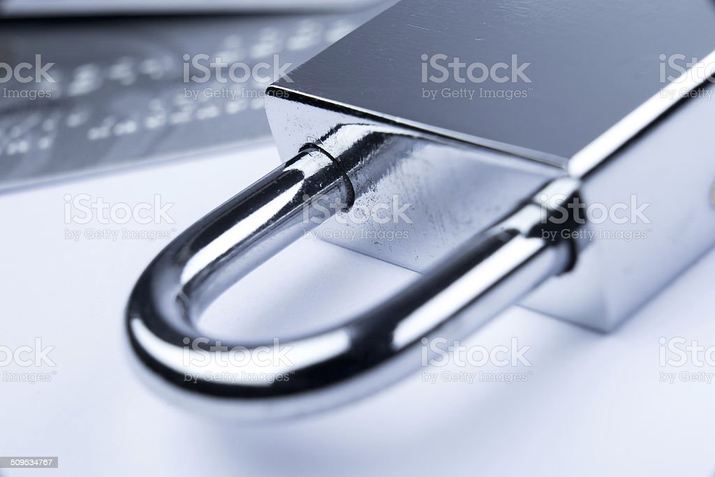Credit Card lock online payment security trust stock photo