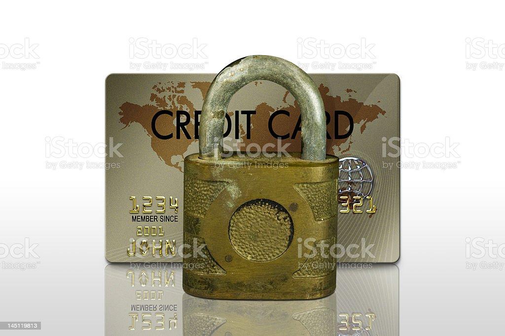 Credit Card locked royalty-free stock photo