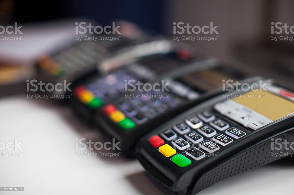 Credit Card Machine stock photo