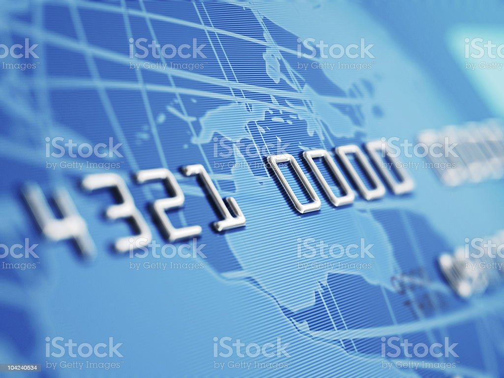 Credit Card Macro stock photo