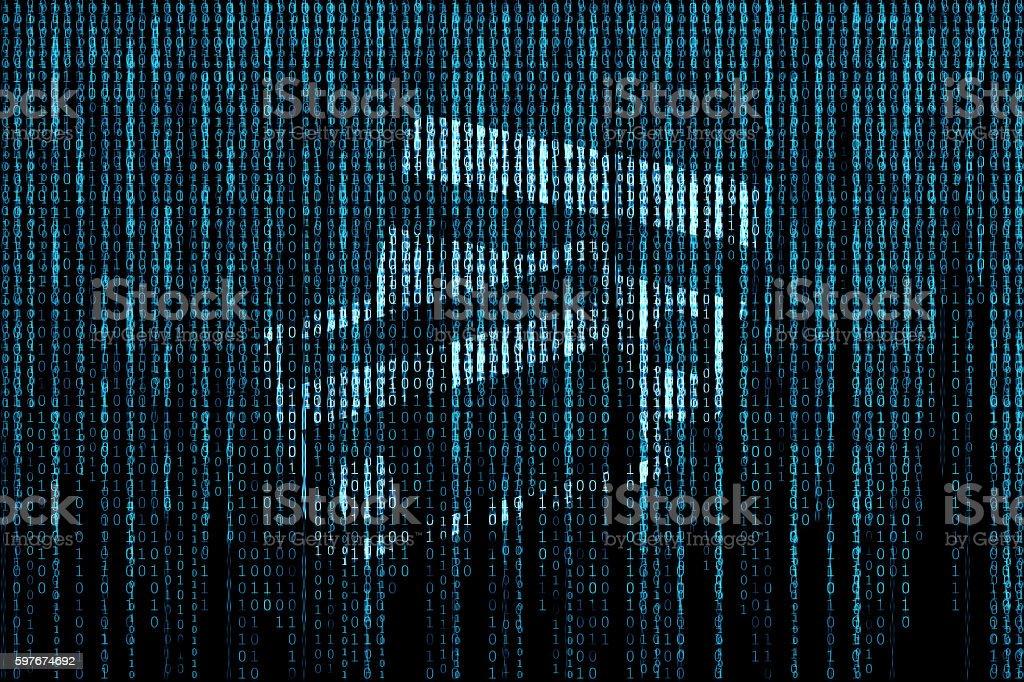 Credit card matrix background stock photo