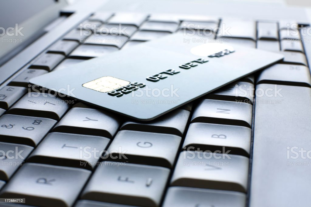 Credit Card on a Laptop royalty-free stock photo