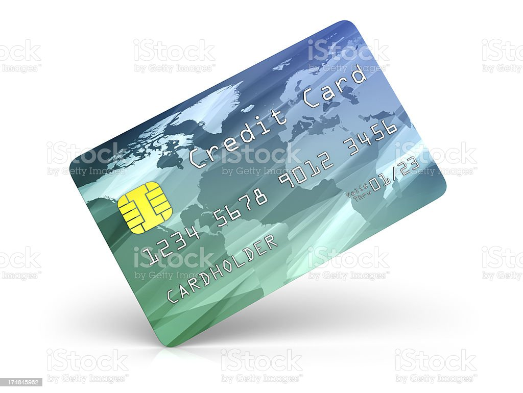 Credit Card on End royalty-free stock photo