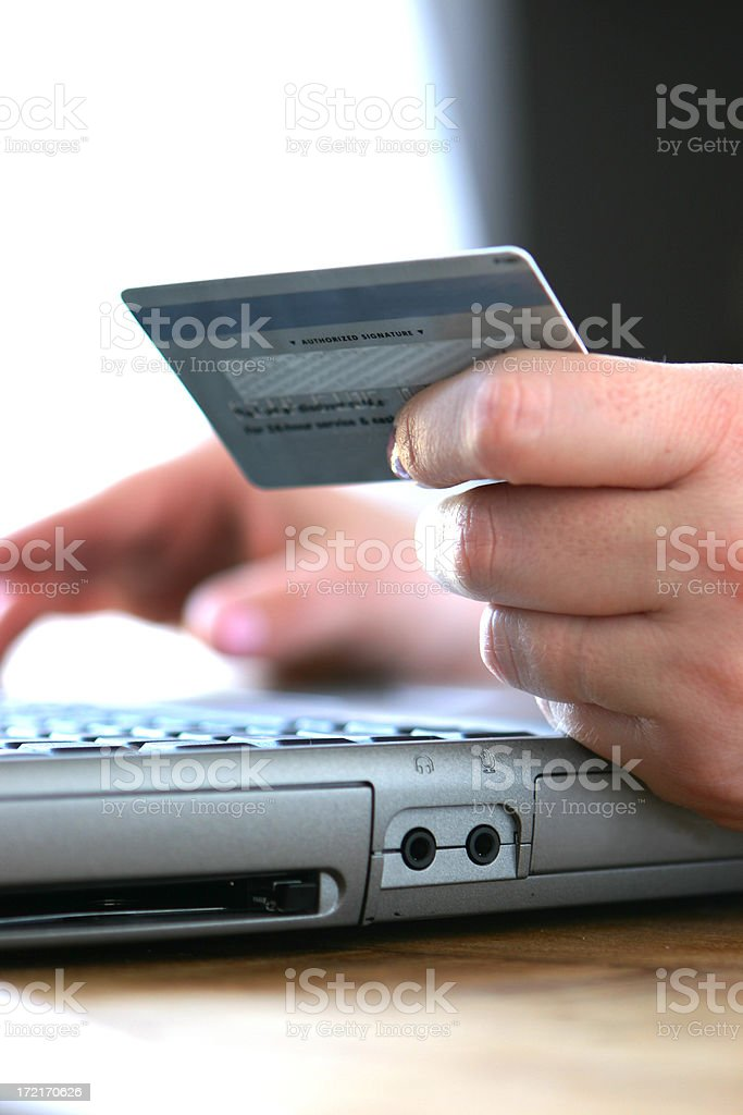 Credit Card Order royalty-free stock photo