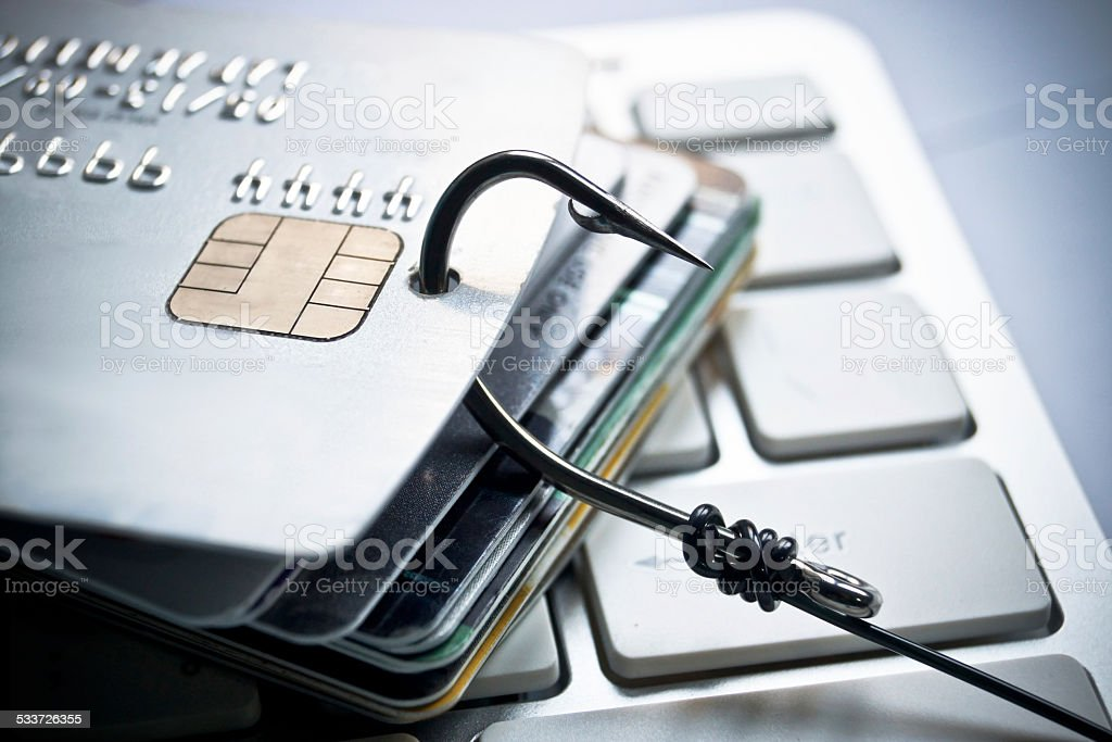 Credit card phishing stock photo