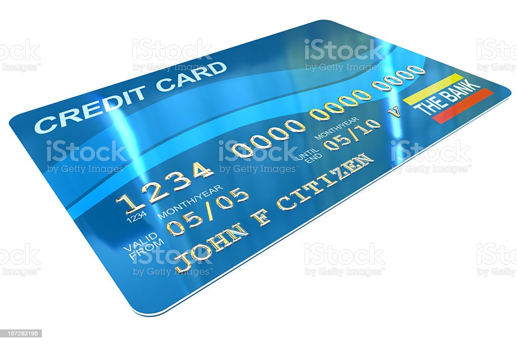 Credit Card (Fictitious) royalty-free stock photo