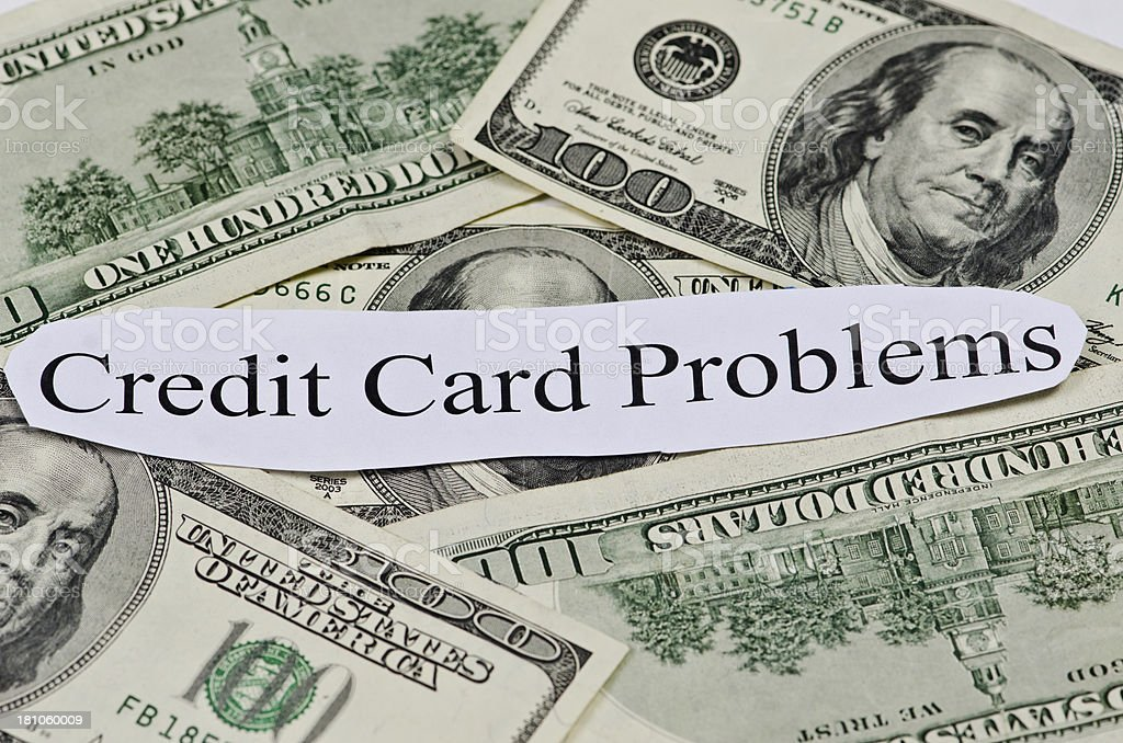 Credit Card Problem royalty-free stock photo