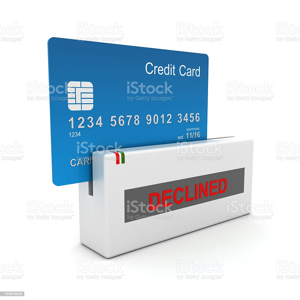 Credit Card Purchase Declined stock photo