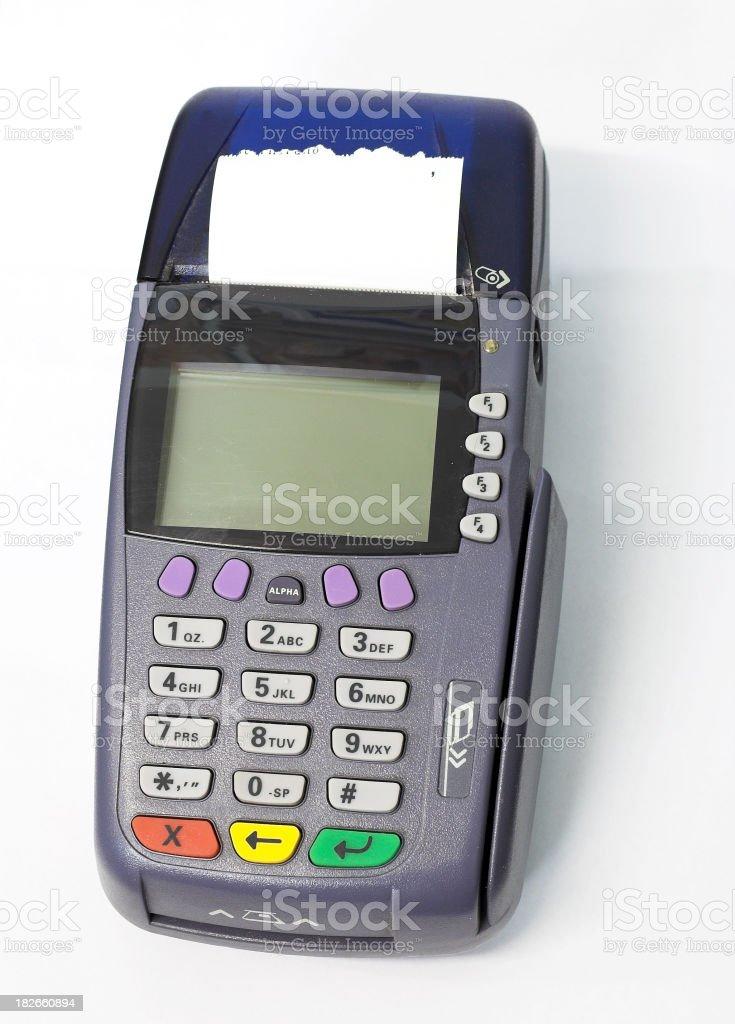 Credit Card Reader. stock photo