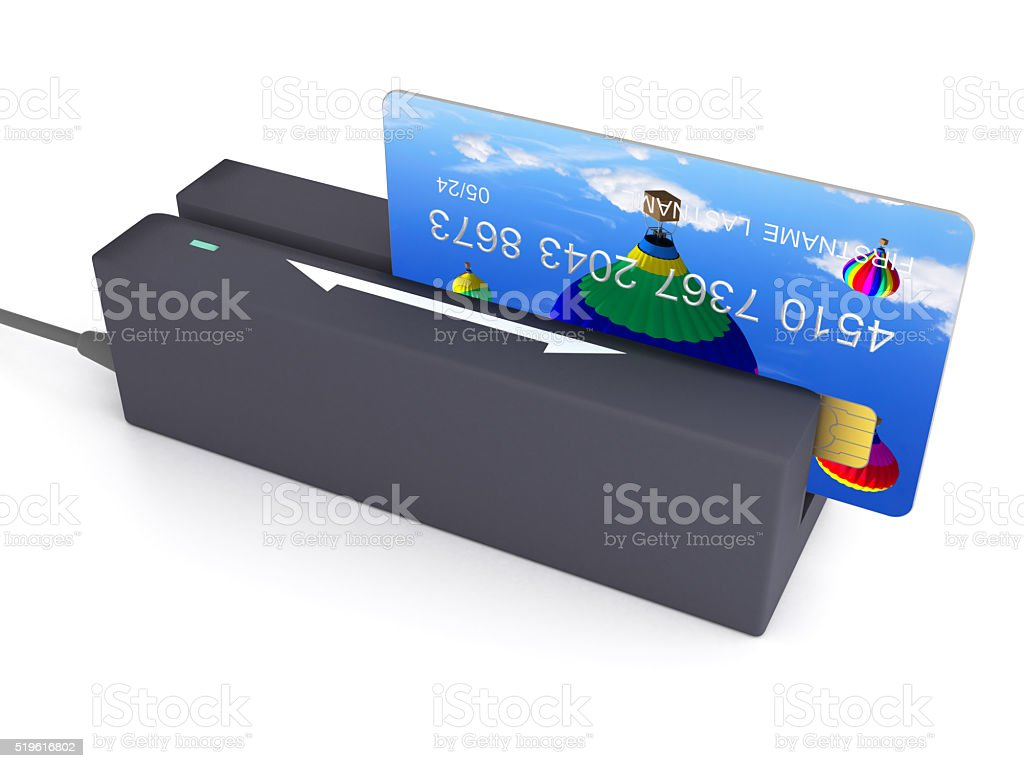 Credit card reader stock photo