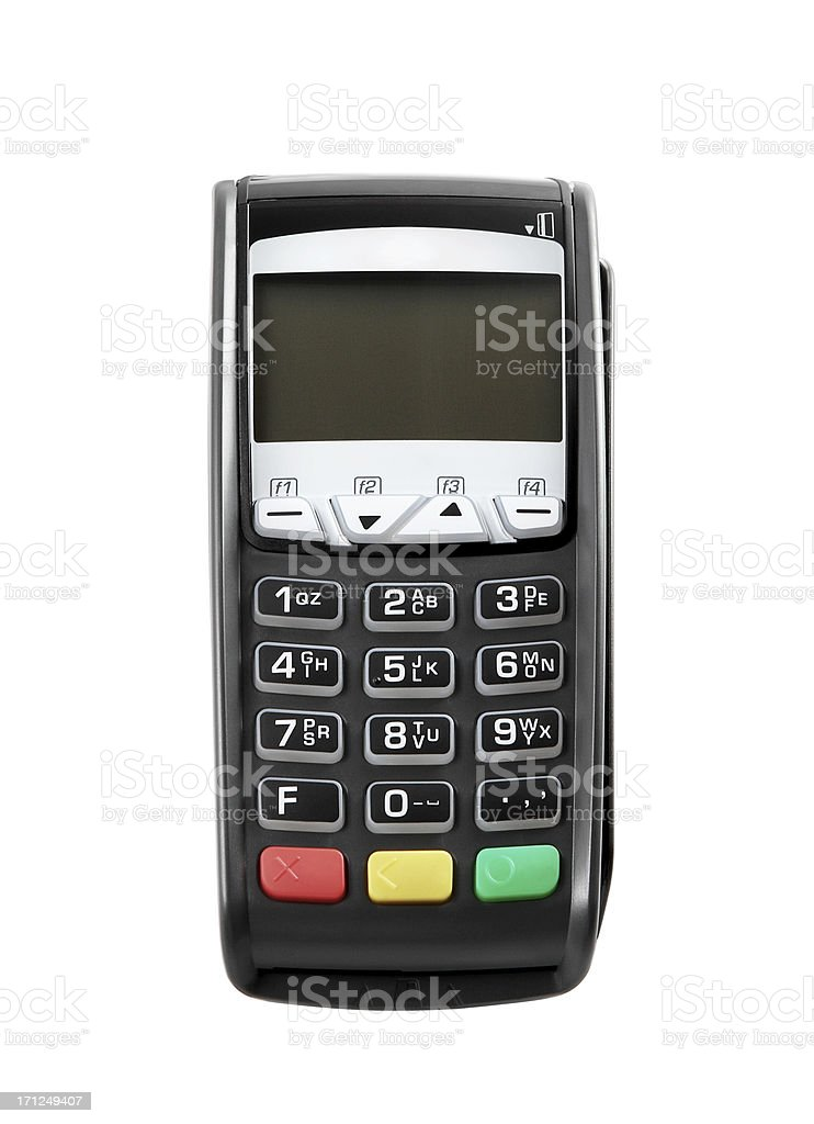 Credit Card Reader+Clipping Path (Click for more) royalty-free stock photo