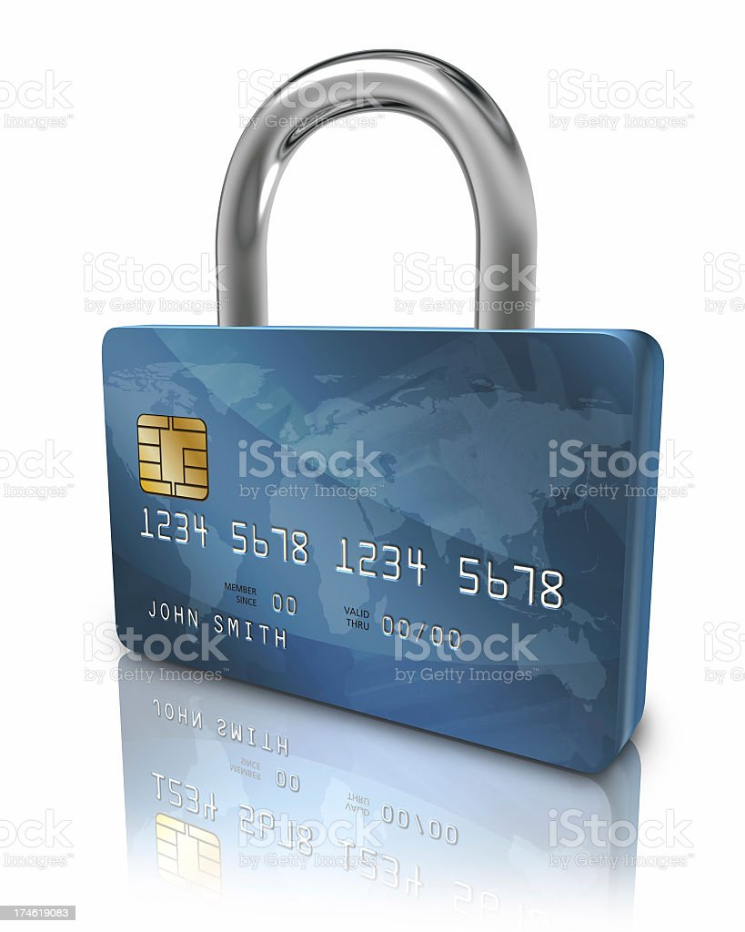 Credit card security lock royalty-free stock photo