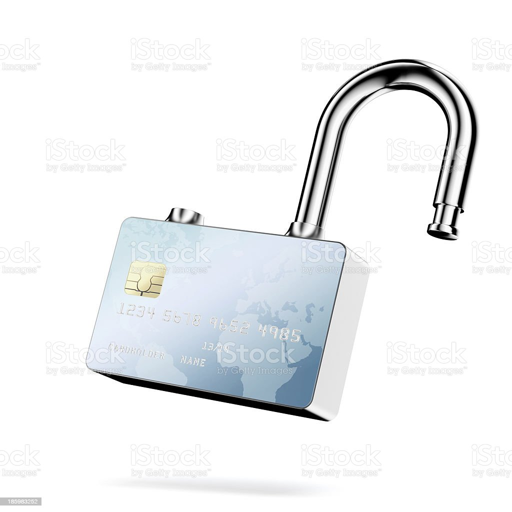 Credit Card Security. royalty-free stock photo
