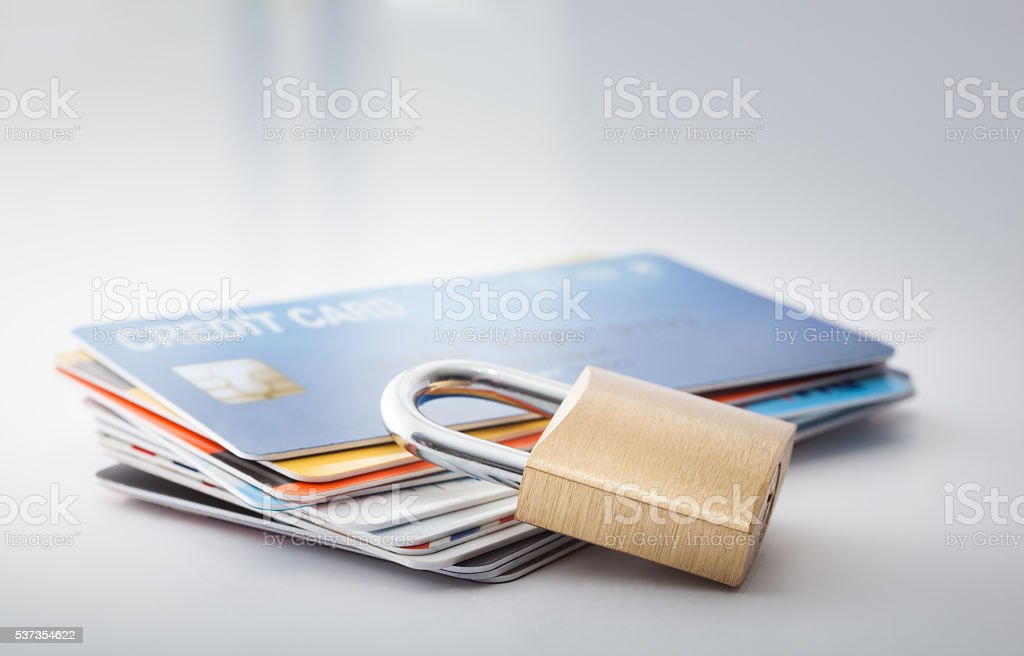 Credit card security stock photo