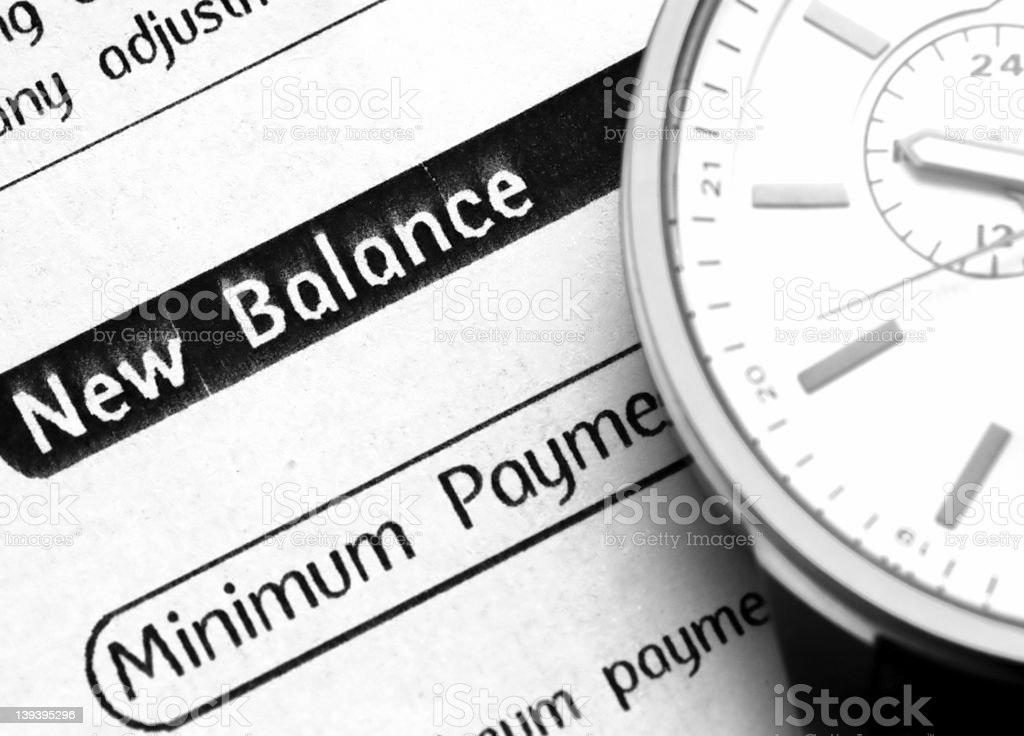 Credit Card Statement royalty-free stock photo