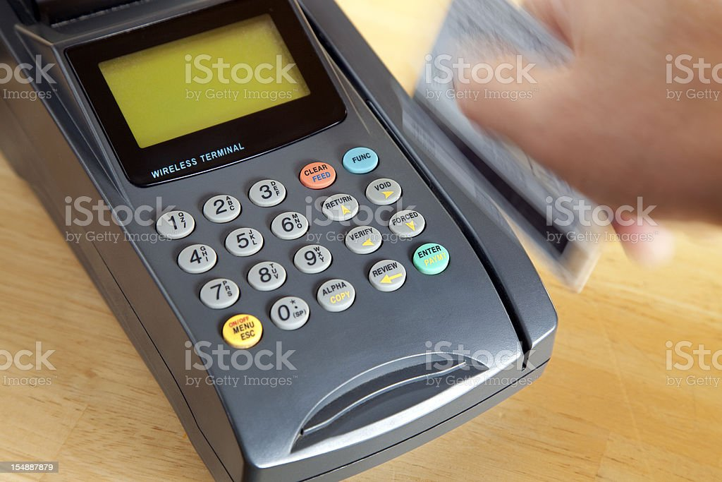 Credit Card Swipe royalty-free stock photo