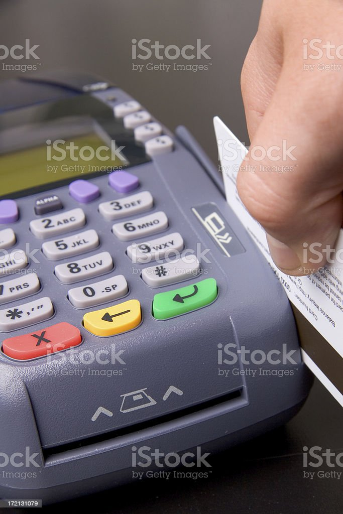 Credit Card Swipe stock photo