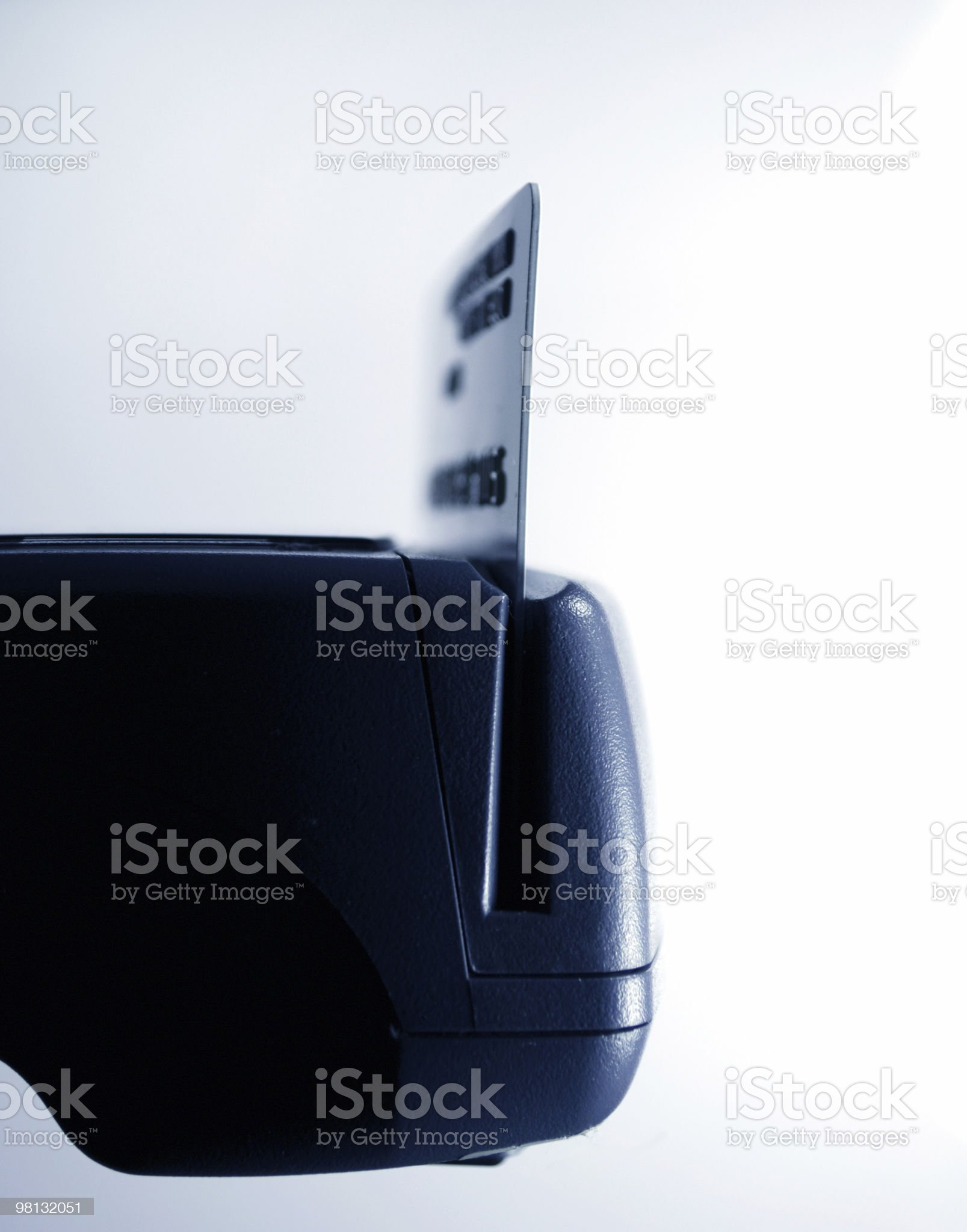 Credit card swipe through terminal for sale royalty-free stock photo