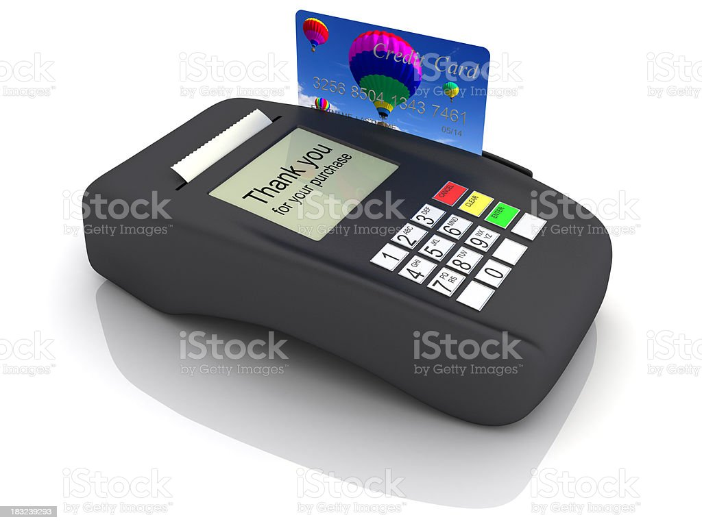 Credit card terminal stock photo
