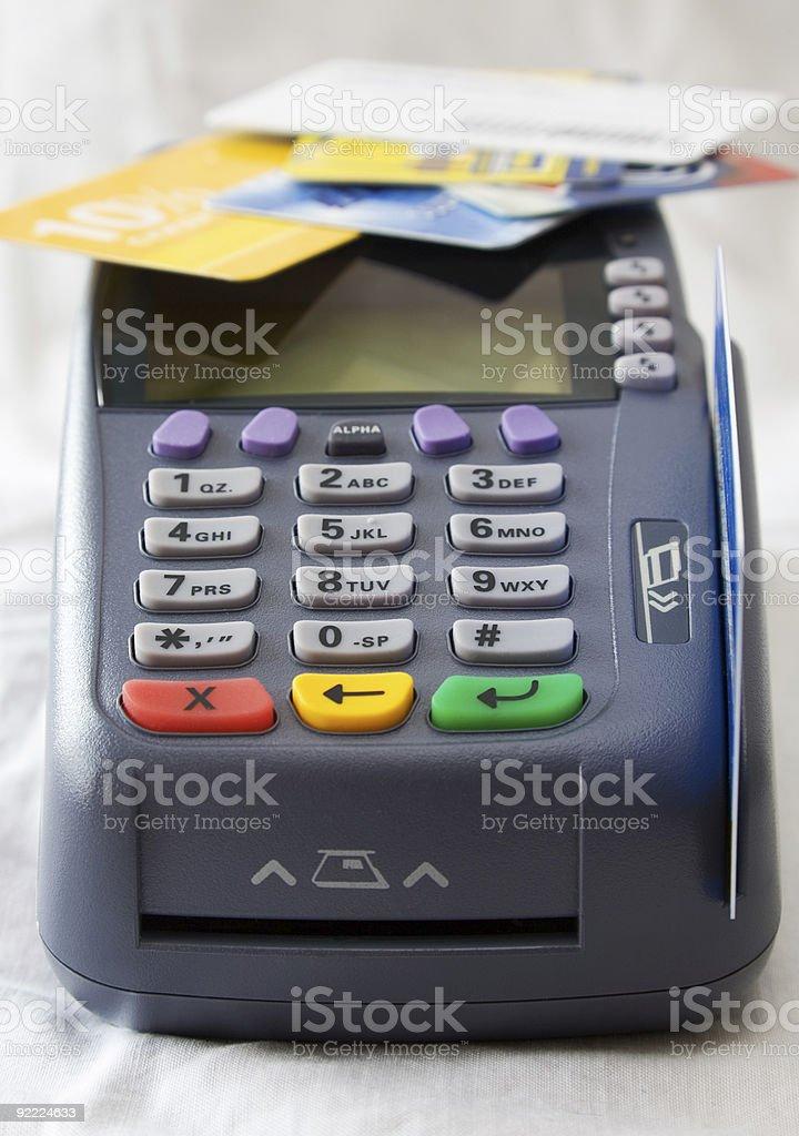 Credit card terminal royalty-free stock photo
