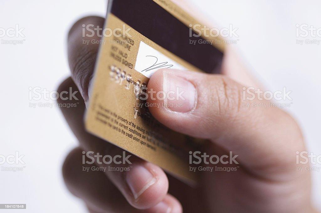 credit card transaction royalty-free stock photo