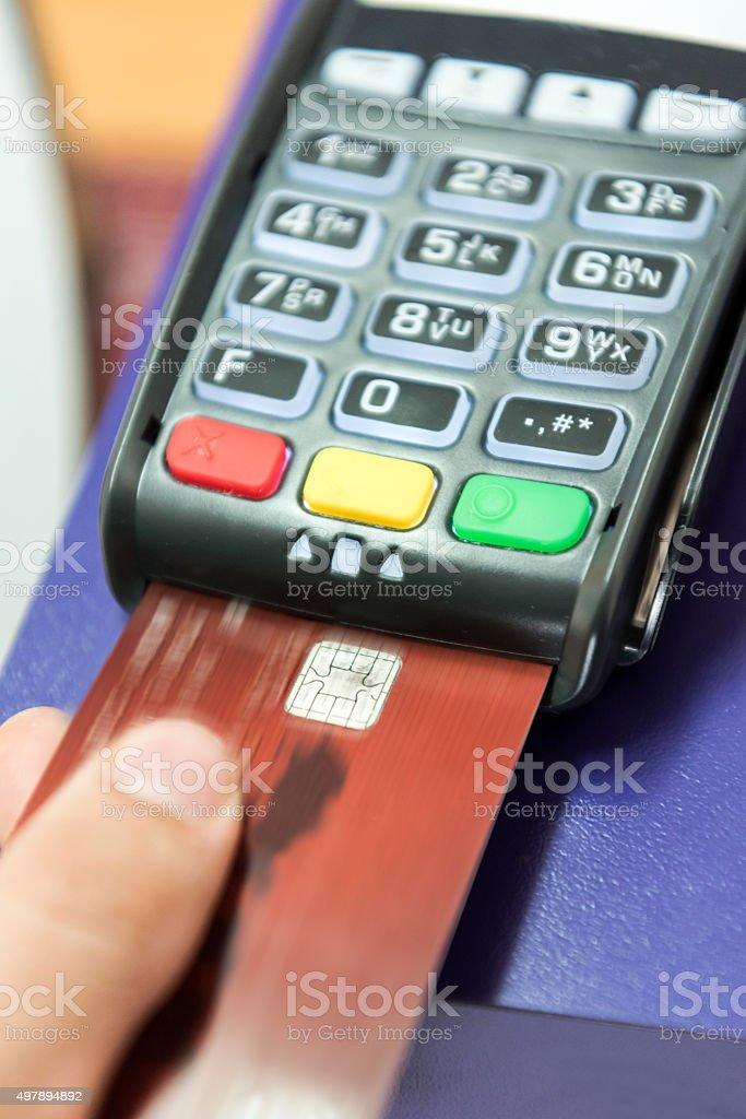 Credit Card Transaction stock photo