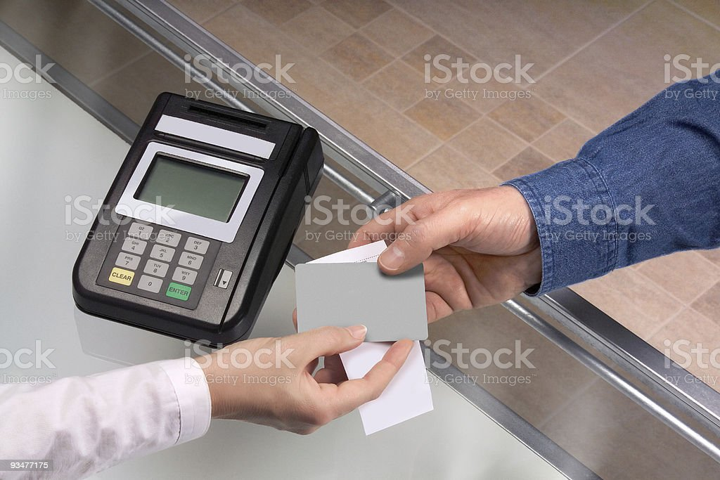 Credit card transaction royalty-free stock photo