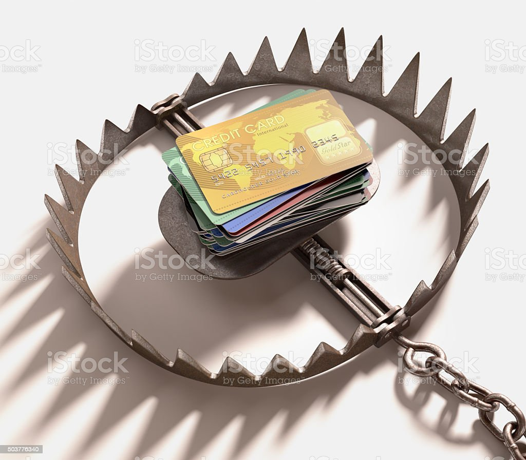 Credit Card Trap stock photo