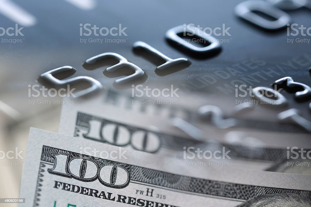 Credit Card  US Paper stock photo