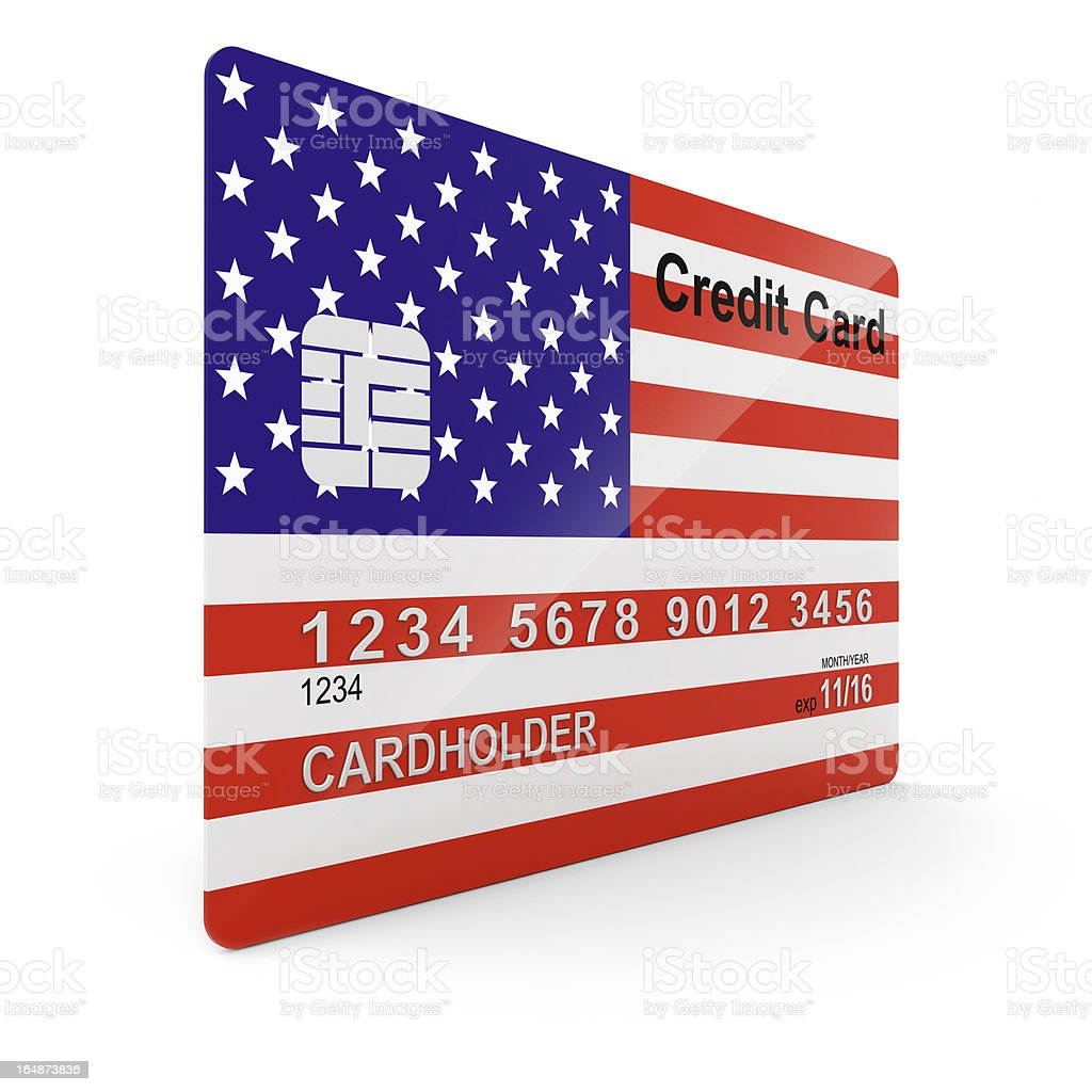 Credit Card USA stock photo
