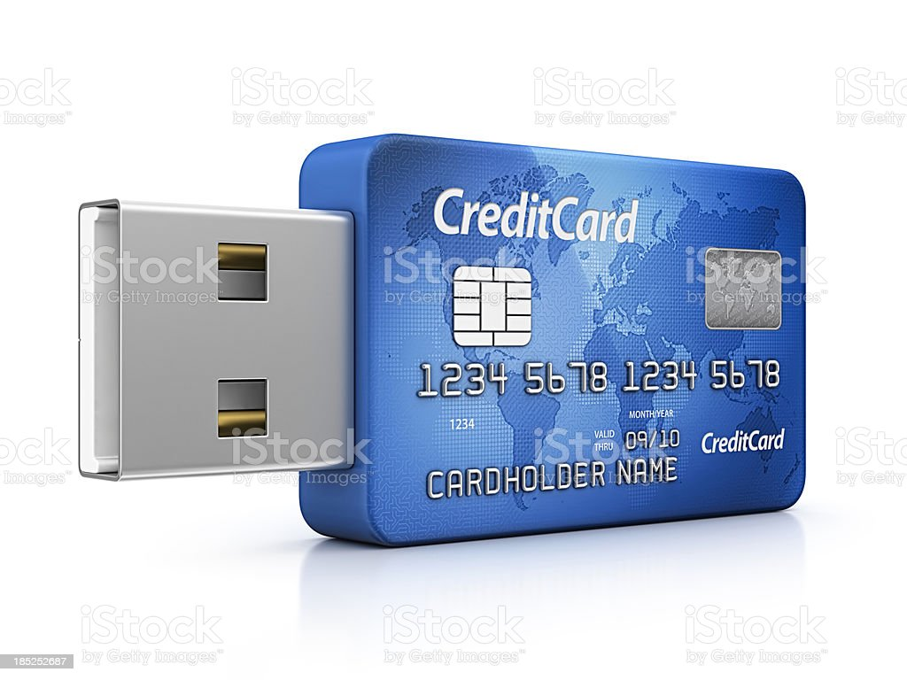 credit card usb royalty-free stock photo