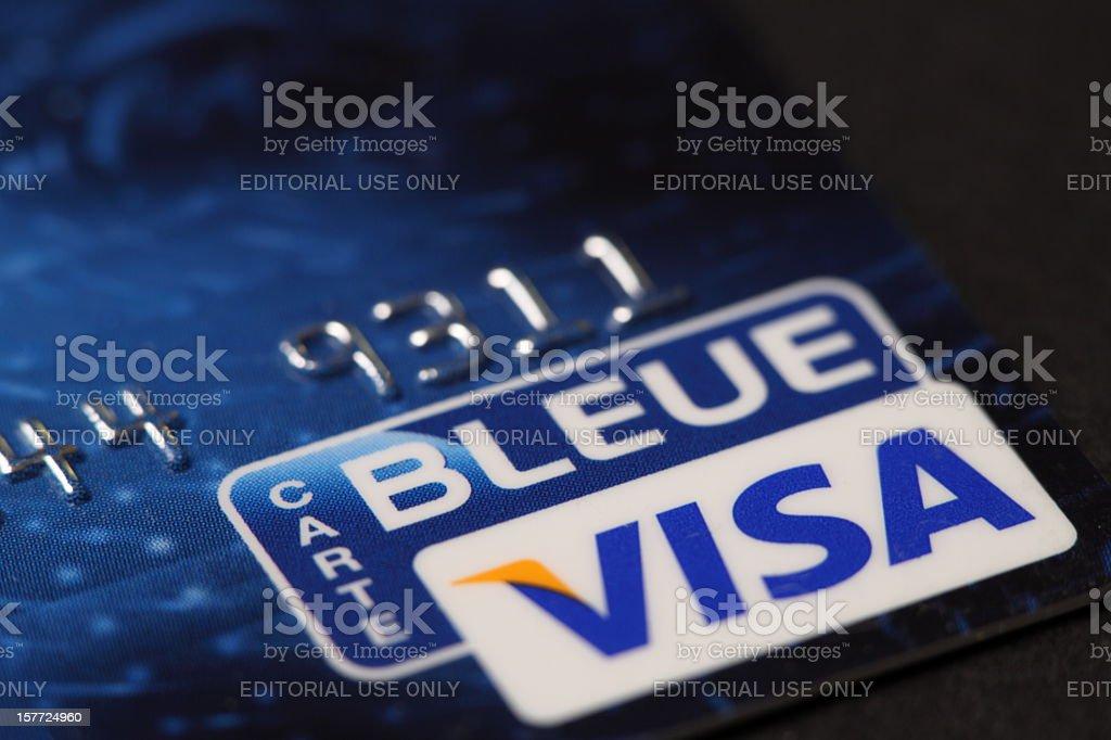 Credit card Visa royalty-free stock photo
