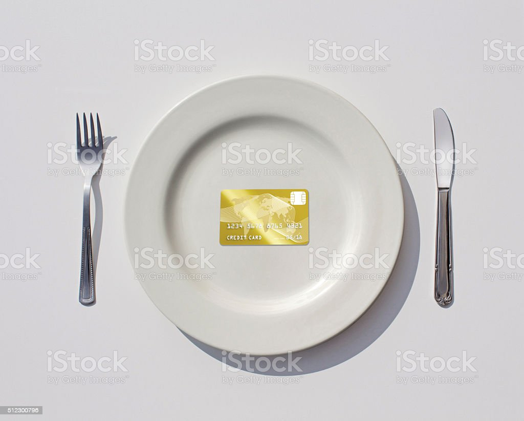 Credit Card = Wealth stock photo
