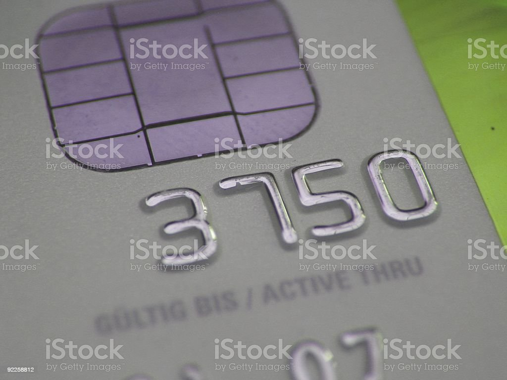 Credit Card with ATM-Chip royalty-free stock photo