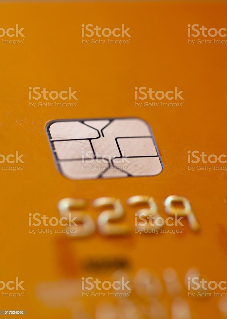 Credit Card with Chip stock photo