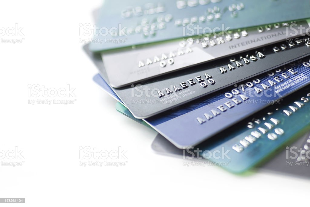 Credit cards close up royalty-free stock photo