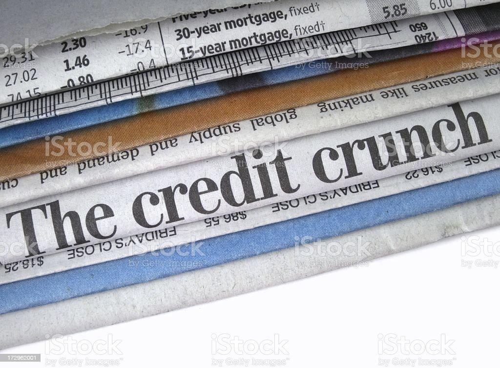 Credit Crisis Headline stock photo