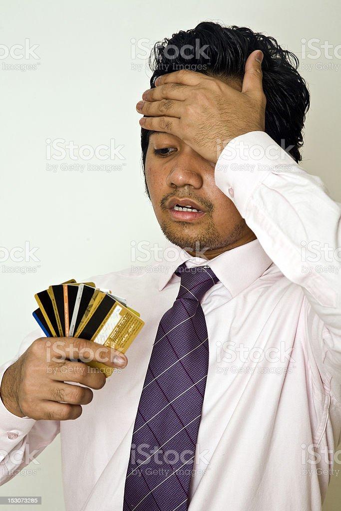 Credit crisis stock photo